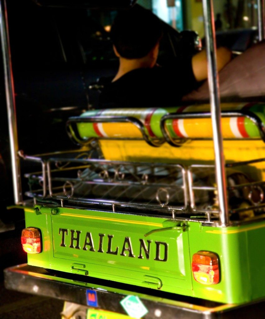 Traveling In A Tuk Tuk In Thailand