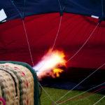 detail of a hot air balloon